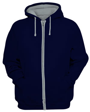 Zipv navy heather