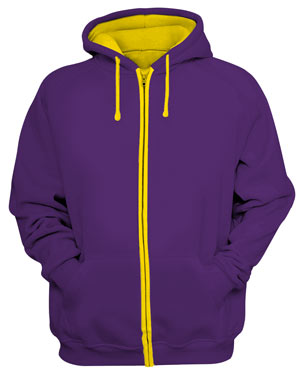 Zipv purple yellow