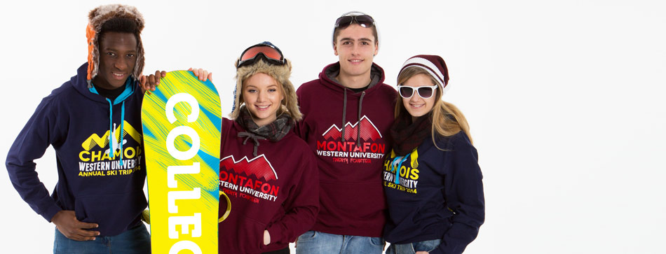 Uni Clothing Printed Embroidered Custom Ski Trip Hoodies