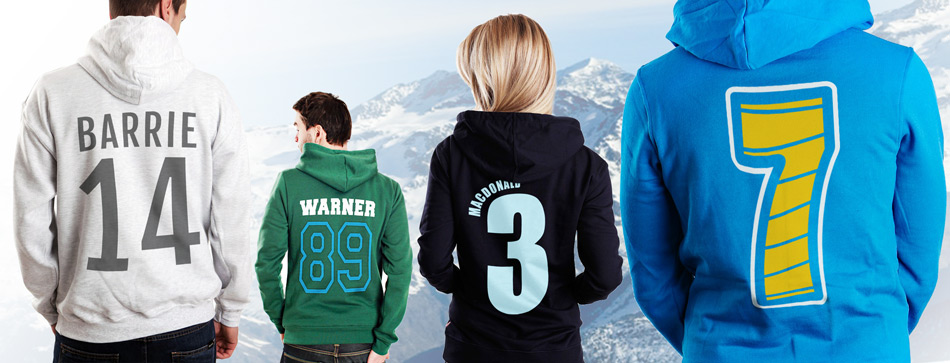 Uni Society Hoodies with Numbers